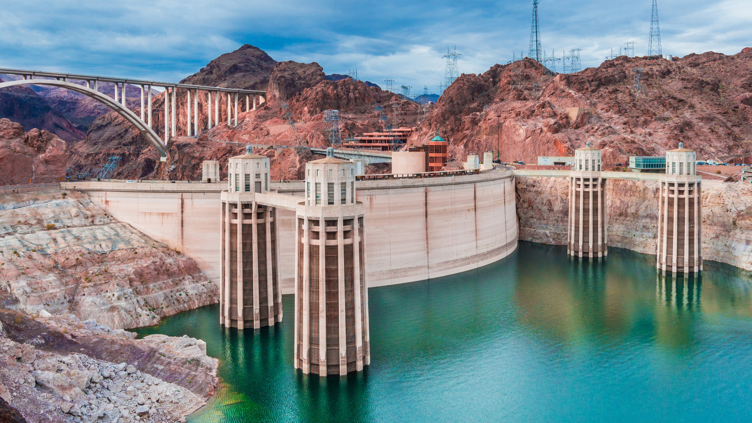 Boulder Dam view from lake