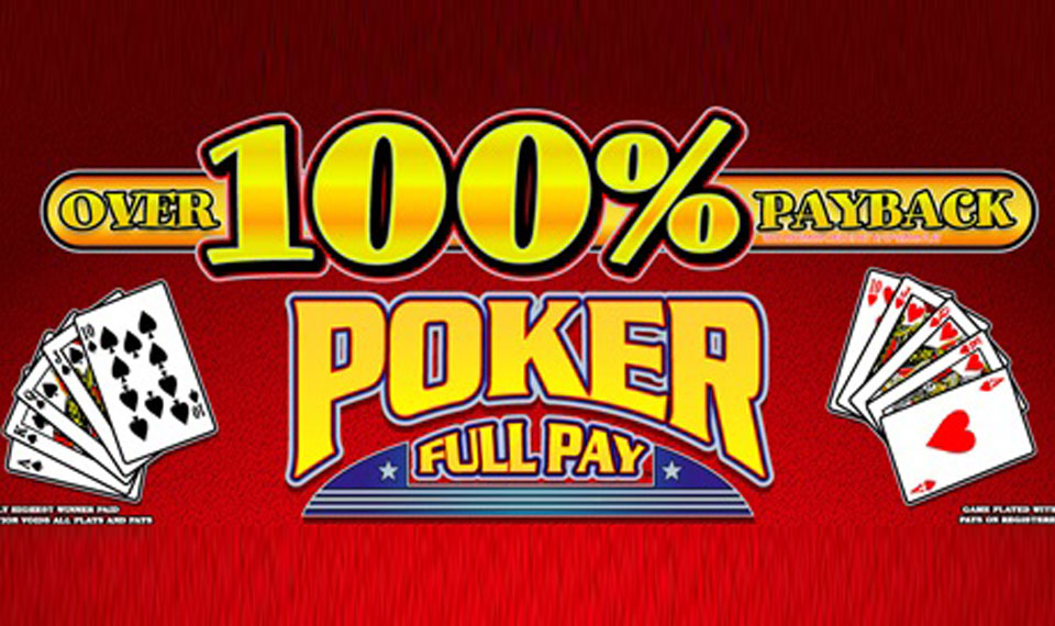 100 Percent Payback Poker Video Poker logo