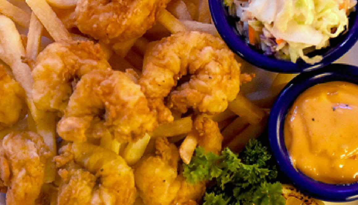 an image of fried shrimp with sides